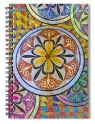 Rainbow Mosaic Circles And Flowers Spiral Notebook