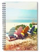 Rainbow Of Adirondack Chairs IIII Spiral Notebook