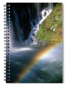 Rainbow On Burney Falls Spiral Notebook