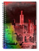 Rainbow On Chicago Mixed Media Textured Spiral Notebook