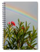 Rainbow Over Flower Spiral Notebook