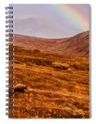 Rainbow Over Grizzly In Denali Spiral Notebook
