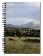 Rainbow Over Lake Estes Spiral Notebook