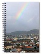 Rainbow Over Oslo Spiral Notebook