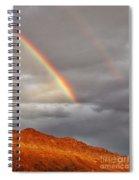 Rainbow Over Rocks Spiral Notebook