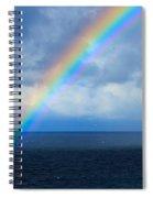 Rainbow Over The Atlantic Ocean Spiral Notebook