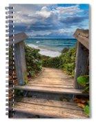 Rainbow Over The Ocean Spiral Notebook