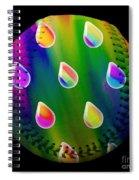 Rainbow Showers Baseball Square Spiral Notebook