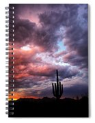 Rainbow Skies At Sunset  Spiral Notebook