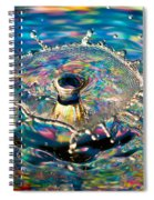 Rainbow Splash Spiral Notebook