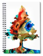 Rainbow Tree 2 - Colorful Abstract Tree Landscape Art Spiral Notebook