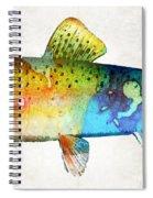 Rainbow Trout Art By Sharon Cummings Spiral Notebook
