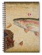 Rainbow Trout-basket Weave Spiral Notebook
