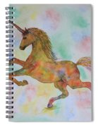 Rainbow Unicorn In My Garden Original Watercolor Painting Spiral Notebook