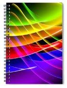 Rainbow Waves Spiral Notebook