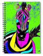 Rainbow Zebra 2 Abstract Spiral Notebook