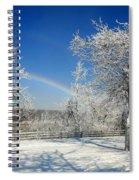 Rainbows Of Ice Spiral Notebook