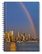 Rainbows Over The New York City Skyline Spiral Notebook