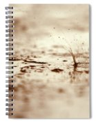 Raindrop Falling On The Street Spiral Notebook