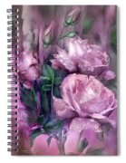 Raindrops On Pink Roses Spiral Notebook