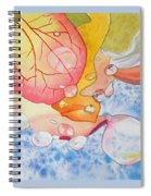 Raindrops On Roses Watercolor Art Prints Spiral Notebook
