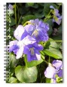 Raindrops On Violets Spiral Notebook