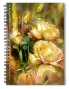 Raindrops On Yellow Roses Spiral Notebook