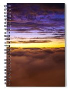 Rainier Above The Clouds Spiral Notebook