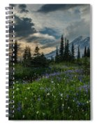 Rainier Abundance Of Flowers Spiral Notebook