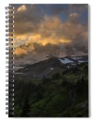 Rainier Evening Skies Drama Spiral Notebook