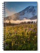 Rainier Golden Sunlit Meadows Spiral Notebook