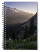 Rainier In The Saddle Spiral Notebook