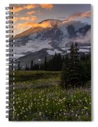 Rainier Meadows Splendor Spiral Notebook