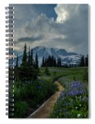 Rainier Meadows Thunder Skies Spiral Notebook