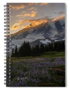 Rainier Purple Lupine Carpet Spiral Notebook