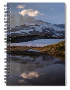 Rainier Reflected In A Glacial Tarn Spiral Notebook