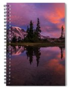 Rainier Soaring Sunrise Reflection Spiral Notebook