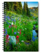 Rainier Wildflower Creek Spiral Notebook