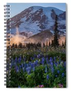 Rainier Wildflower Meadows Pano Spiral Notebook