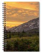 Rainier Wildflowers Meadow Sunset Spiral Notebook