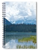 Raining On Emerald Lake In Yoho National Park-british Columbia-canada Spiral Notebook