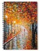 Rainy Autumn Day Palette Knife Original Spiral Notebook