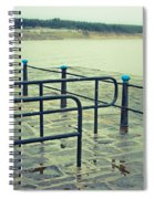 Rainy Day At The Sea Front Spiral Notebook