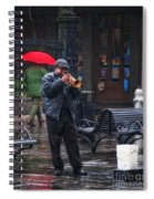 Rainy Day Blues New Orleans Spiral Notebook