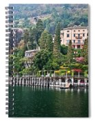 Rainy Day In Como Spiral Notebook