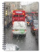 Rainy Day London Traffic Spiral Notebook