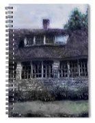 Rainy Day Long Ago House Spiral Notebook