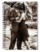Rainy Day - Love In The Rain 2 Sepia Spiral Notebook