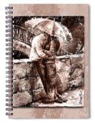 Rainy Day - Love In The Rain Style Mistyrose Spiral Notebook