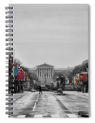 Rainy Day On The Parkway Spiral Notebook